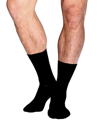 Boody Organic Bamboo EcoWear Men's Business Sock, 6-11, Black (Black Christmas Men 6-8)