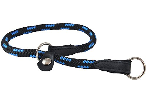 (Dogs My Love Round Braided Rope Nylon Choke Dog Collar with Sliding Stopper (20