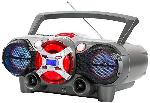 QFX J-50U Portable Jumbo Bluetooth Boombox Radio with MP3/CD Player and Cassette Recorder ()