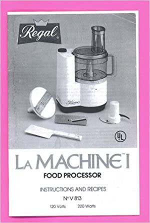 Moulinex lamachine i food processor manual recipe booklet regal moulinex lamachine i food processor manual recipe booklet regal amazon books forumfinder Image collections