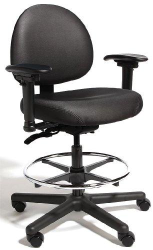 Big and Tall Intensive Task Chair, Vinyl Black