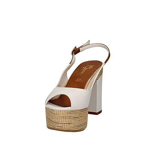 Grace F 03 Shoes Sandalo Tacco Bianco Portofino Donna r6qpwHrR