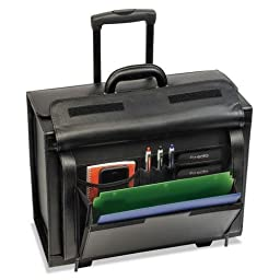 UNITED STATES LUGGAGE D9784 Classic Leather Rolling Catalog Case,16\