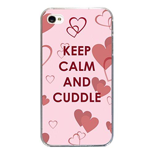 "Disagu Design Case Coque pour Apple iPhone 4 Housse etui coque pochette ""Ceep Calm And Cuddle"""