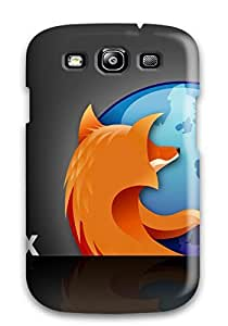 New Premium DPatrick Firefox Black Shadow Skin Case Cover Excellent Fitted For Galaxy S3