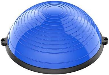 SMX バランスボールトレーナー58センチメートル200キロの容量の半分ヨガバランスボールの多機能ヨガバランスハーフボールフィットネス・ストレングスエクササイズワークアウト