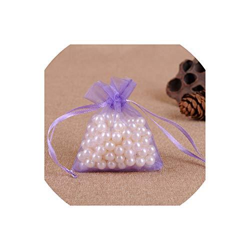 50Pcs 7X9Cm 9X12Cm Transparent Organza Bags Christmas Halloween Gift Box Packaging Gift Bags Wedding Candy Box Chocolate Bags,Violet,15X20Cm]()