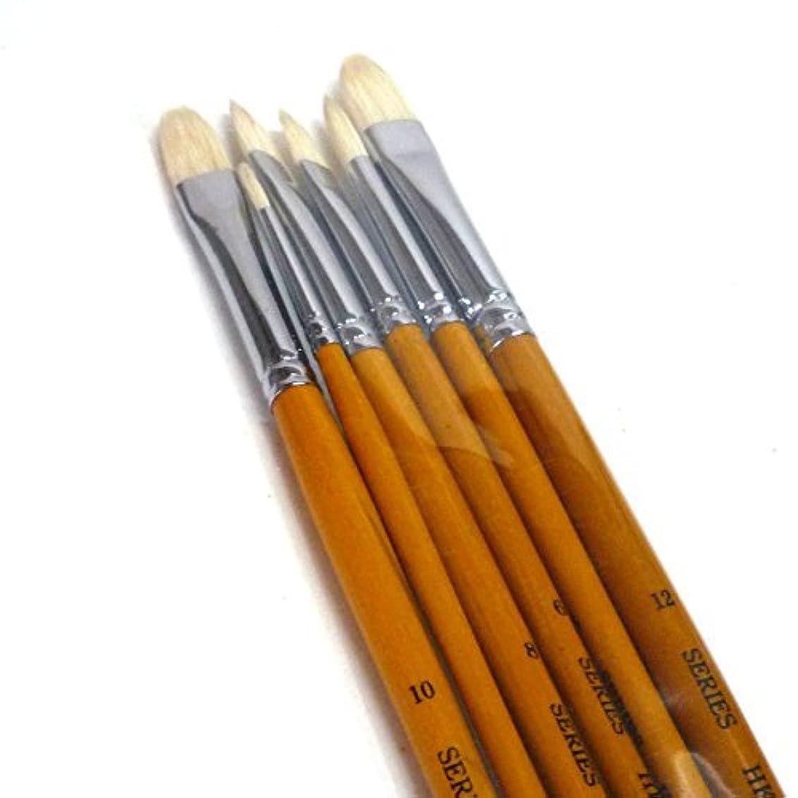 の量理容師職業サクラクレパス 画筆 豚毛 丸型 0号 木軸 KR#0(10) 10本
