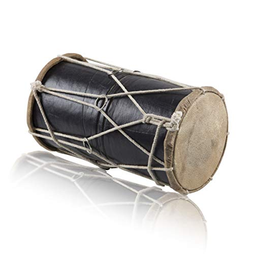 Handmade Wooden & Leather Classical Indian Folk Tabla Drum Set Hand Percussion Drums World Musical Instruments Punjabi Dhol Dholak Dholki Fun For Adults Kids Birthday Housewarming Gift Ideas