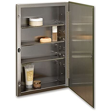 Jensen 84024SSX Stainless Steel Frame Medicine Cabinet 16 X 26