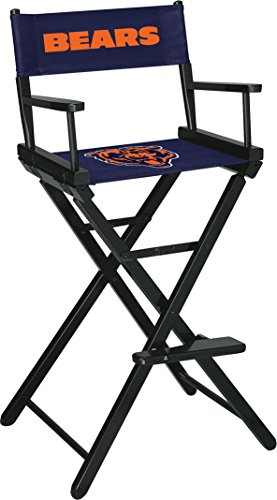 Imperial Officially Licensed NFL Merchandise: Directors Chair (Tall, Bar Height), Chicago Bears