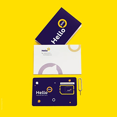 ersal SIM, Worldwide Coverage, No Activation fee, No Contract, Smart SIM for Smart Gadgets – from HelloSIM ()