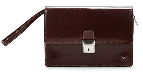 uomo cm Brown borsa Pochette Business Braun 23 pelle Colorado tabacco Golden Head qnW7xwaac