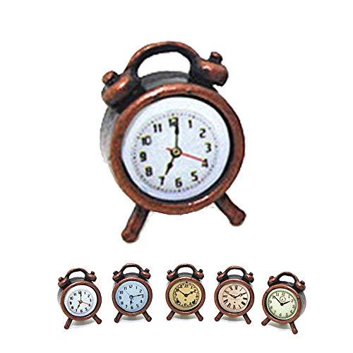 - Gbell Mini Alarm Clock Model for 1/12 Scale Miniature Dollhouse Accessories Kids Girls Toy,1 Pcs Random Color (Bronze)