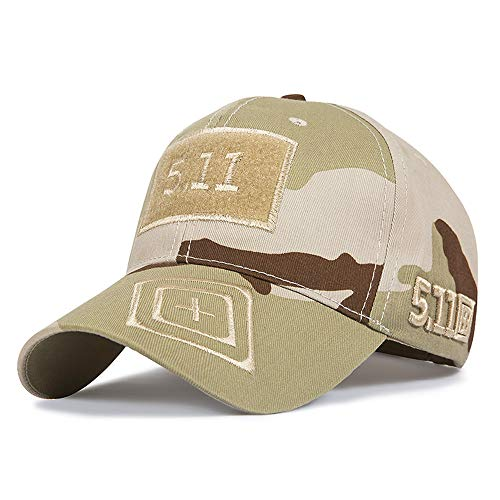 Camouflage Cotton 5.11 Baseball Cap for Woman Men(Multiple ACU CP at Styles)]()