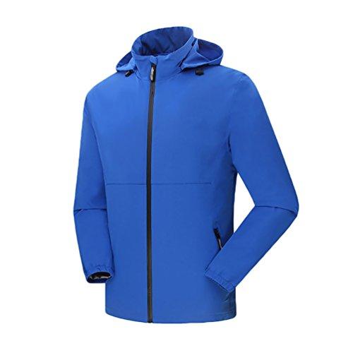 ZKOO Chaqueta di esqui para Hombre Softshell Abrigo de Deportiva Ligera Impermeables Cazadoras al aire libre Cortavientos Hombre Azul