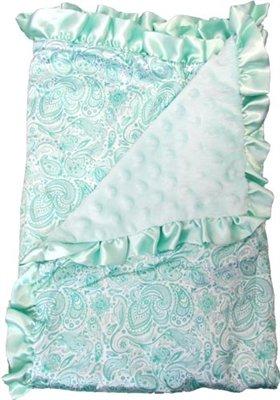 Satin Baby Blanket Matching Paisley