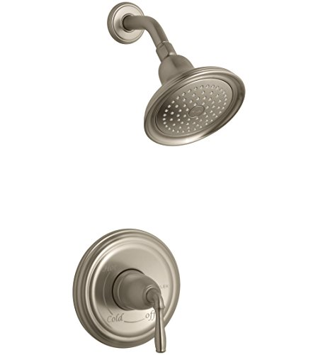Bv Shower Faucet (KOHLER TS396-4-BV Devonshire(R) Rite-Temp(R) Shower Valve Trim with Lever Handle and 2.5 Gpm Showerhead (R) (R), Vibrant Brushed Bronze)