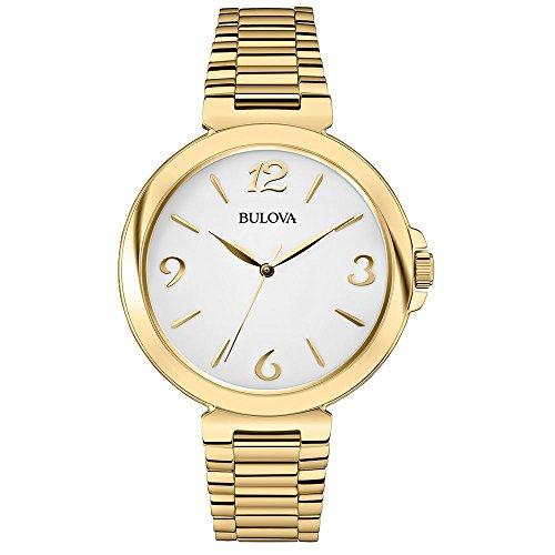 Amazon.com: Bulova White Dial Gold-tone Ladies Watch 97L139: Bulova: Watches