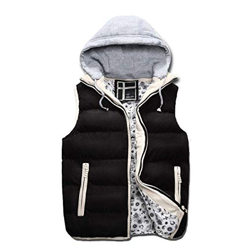 Similar Winter Jacket Jacket BOLAWOO Brands Black and Down Breathable Detachable Hood Winter Warm Men's Padded Slightly Fashion Vest Autumn Vest Vest qEX1wXS