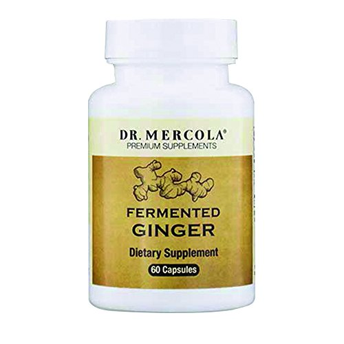 Dr. Mercola Fermented Ginger with Perilla Leaf Extract– 60 Capsules Digestive Aid – Support Digestive Health with Non-GMO and Sustainably Sourced Organic Ginger Root Powder