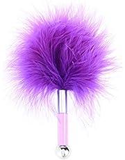 BESTOYARD Feather Tickler Whip Flirting Juguete Burlas Cosecha Nalgadas Slapper para adultos Parejas Amantes (púrpura)