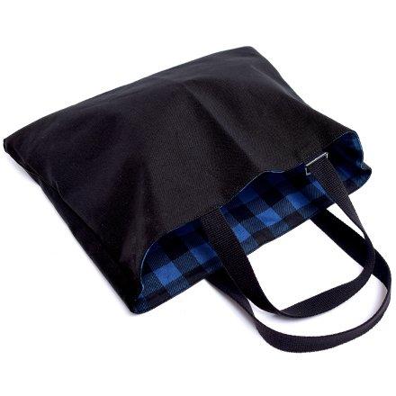 Kids Lektion Tasche von handgefertigten Sinn (reversible) Buffalo Blau Check in Japan N0194000 gemacht (Japan-Import)