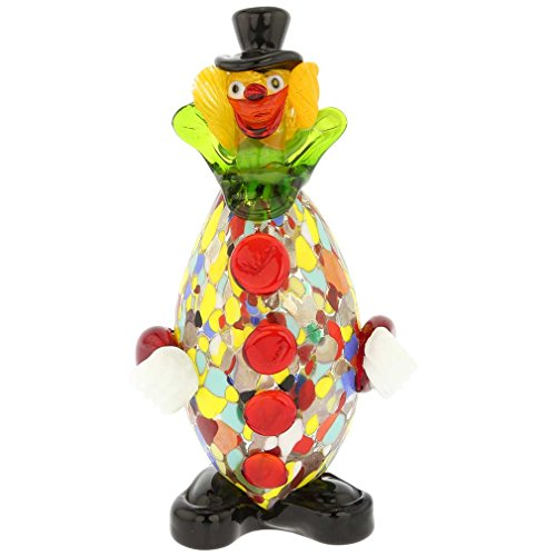 Kiln Oval Glass - GlassOfVenice Murano Glass Clown - Oval