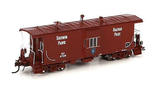 HO Bay Window C-50-9 Caboose w/Lts,SP/Police #4726 by Athearn