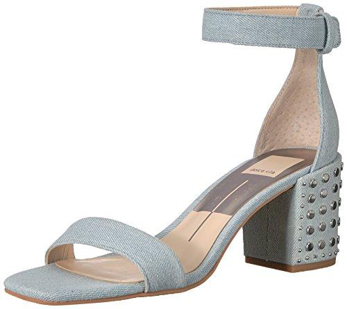 Dolce Vita Women's Dorah Heeled Sandal Light Blue Denim