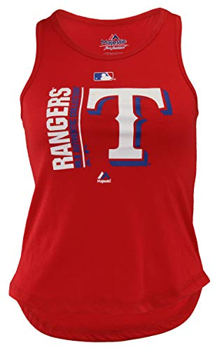 Outerstuff MLB Youth Girls (7-16) Texas Rangers AC Team Icon Field Tank, Red X-Large (16)