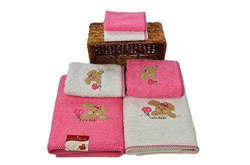 SALBAKOS Bath Towel Set Kids - 6 Piece Set Includes Bath Towels Washcloths - Cars Theme Boys - Cars Baby Washcloths