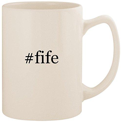 #fife - White Hashtag 14oz Ceramic Statesman Coffee Mug Cup