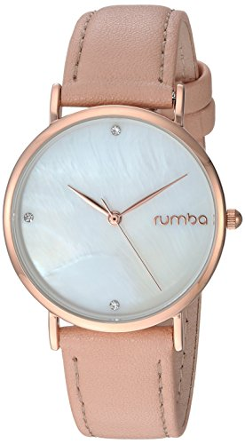RumbaTime Women's 'Lafayette' Genuine Rose/Pink Leather Casual Watch (Model: 27747)