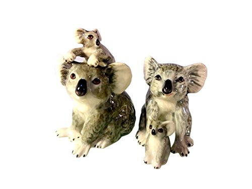 Sansukjai Koala Family Figurines Ceramic Hand Painted Animals Collectible Gift Home Decorate