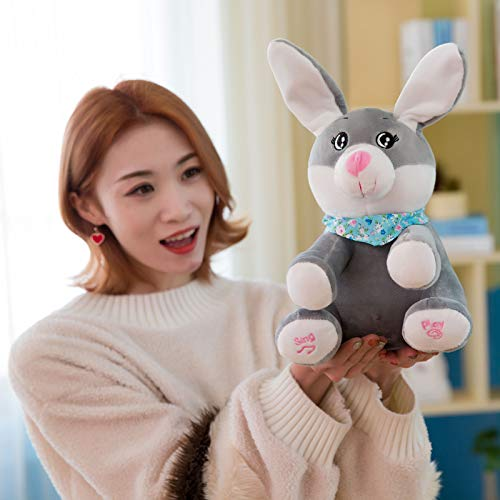 Ferdira Rabbit Plush Interactive Toy peek-a-Boo Stuffed Doll Plays Hide and Seek and Sings Song - Christmas Baby Showers Birthdays Gifts for Children