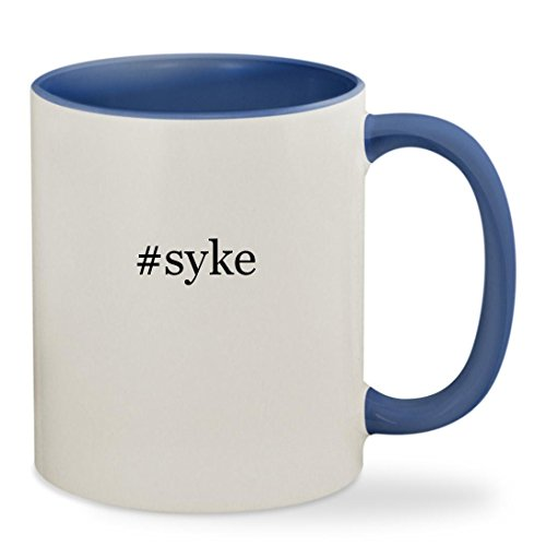 #syke - 11oz Hashtag Colored Inside & Handle Sturdy Ceramic Coffee Cup Mug, Cambridge Blue