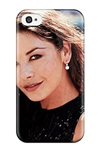 Rugged Skin Case Cover For Iphone 4/4s- Eco-friendly Packaging(catherine Zeta Jones Gallery )