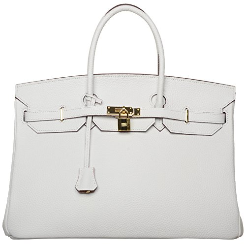 Cherish Kiss 40cm Oversized Padlock Business Office Top Handle Handbags (40cm New White) by Cherish Kiss
