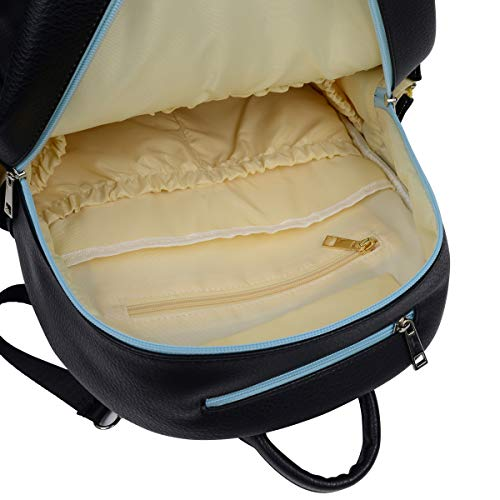 Diaper Backpack Vegan Leather In Black From Mommachi