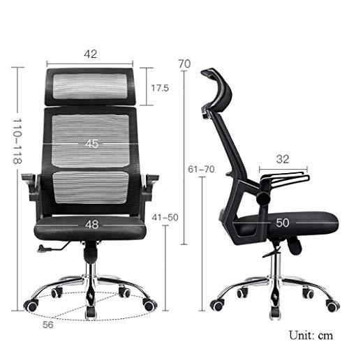 Kontorsstol, 42 cm bredare anpassningsbart nackstöd för en mer bekväm upplevelse, fem färger valfria datorstolar (färg: C)