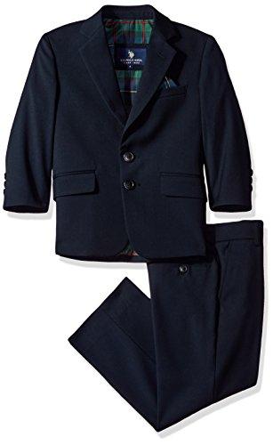 (U.S. Polo Assn. Boys' Little' Rayon Poly Suits, Navy, 5)