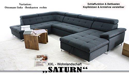 Arbd Wohnlandschaft Saturn Xxl Sofa Hell Grau U Form Mit