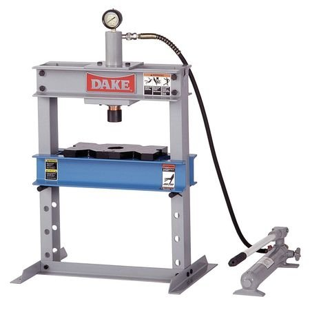 "Dake B-10 Model Manual Utility Hydraulic Bench Press, 10 Ton Capacity, 23"" Length x 18"" Width x 36"" Height"