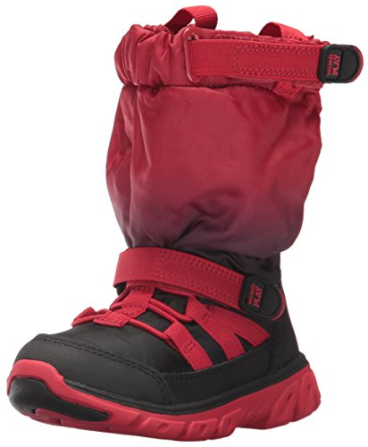 Image of the Stride Rite Boys' Made 2 Play Sneaker Snow Boot, Red/Black Fade, 11.5 M US Little Kid