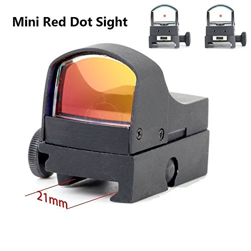 UUQ® Clarity+ Mini Holographic Reflex Red Dot Sight in Dual Brightness for 20mm Weaver Rail Mount