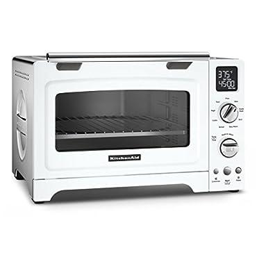 KitchenAid KCO275WH Convection 1800-watt Digital Countertop Oven, 12, White