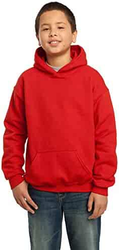 Gildan Heavy Blend Youth 8 oz., 50/50 Hood, XS, RED