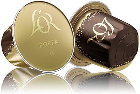 LOr Café Espresso Forza - Intensidad 9 - 10 Cápsulas de aluminio ...