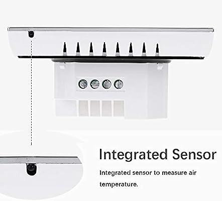BECA 1000 Series 3/16A Pantalla táctil LCD Agua/Calefacción eléctrica/Caldera Termostato de control de programación inteligente con conexión WIFI (Calentamiento de caldera,Blanco): Amazon.es: Bricolaje y herramientas